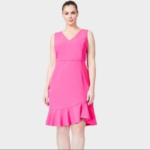 Betsey Johnson Think Pink Ruffled Hem Dress